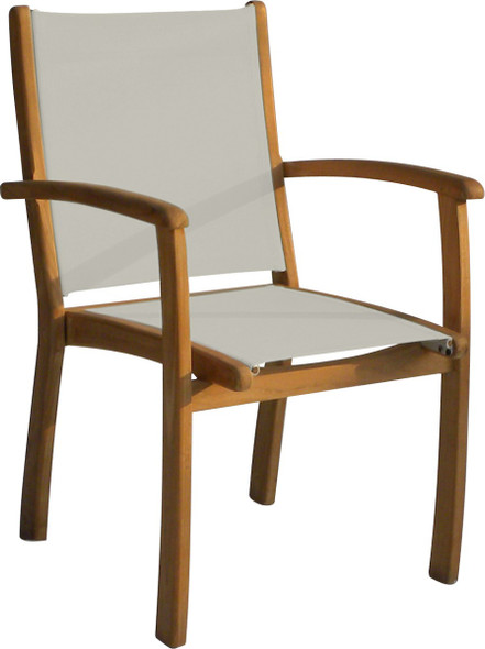Batyline Stacking Dining Arm Chair Taupe