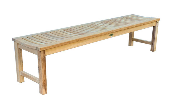 Madison Backless Bench 6' by Classic Teak
