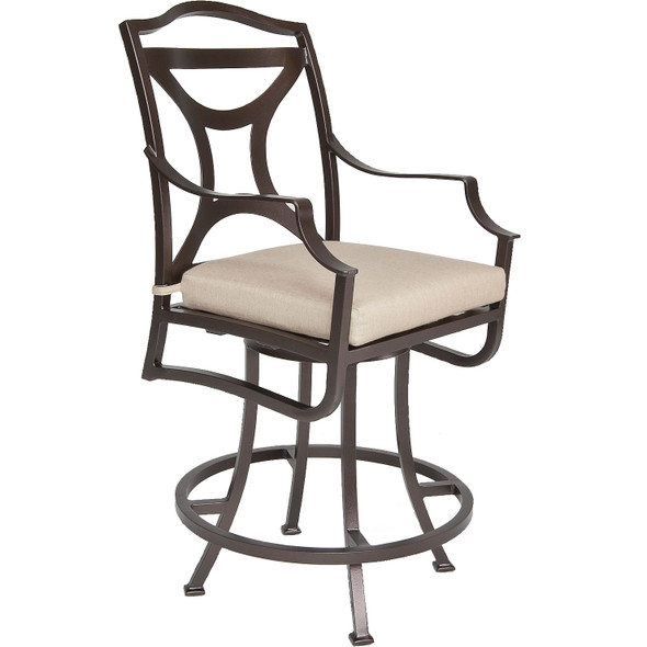Madison Swivel Counter Stool With Arms by OW Lee