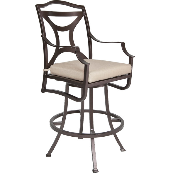 Madison Swivel Bar Stool With Arms by OW Lee