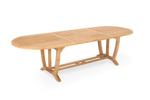 "Deluxe Oval Extension Teak Table 87""- 122"" XLarge"