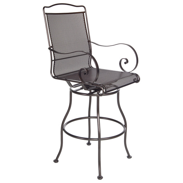 Avalon Swivel Bar Stool With Arms by OW Lee