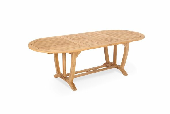 "Deluxe Oval Ext. Table 67""- 95"" Large by Classic Table"