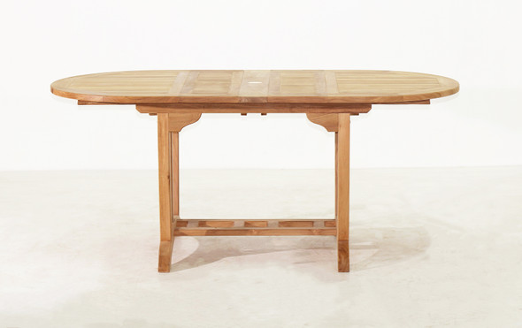 "Deluxe Oval Ext. Table 51""- 71"" by Classic Teak"