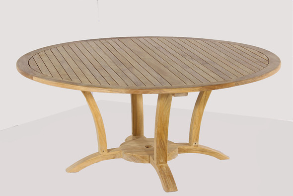 """Deluxe Round Dining Table 70"""" by Classic Teak"""