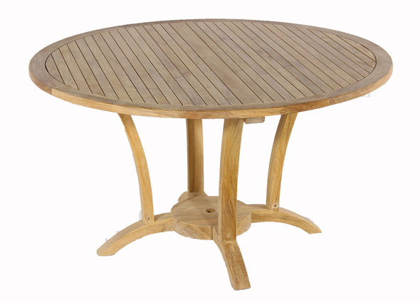 "Deluxe Round Dining Table 60"" by Classic Teak"