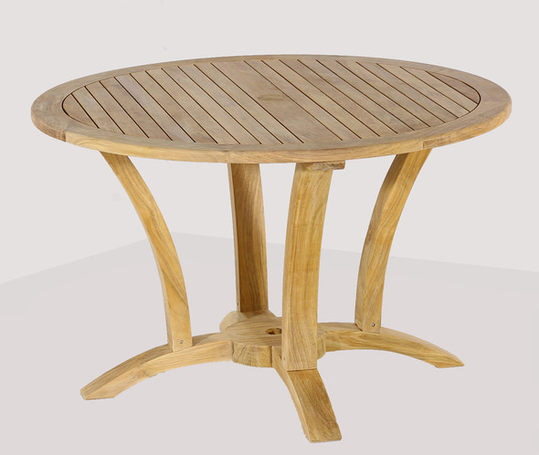 """Deluxe Round Dining Table 48"""" by Classic Teak"""