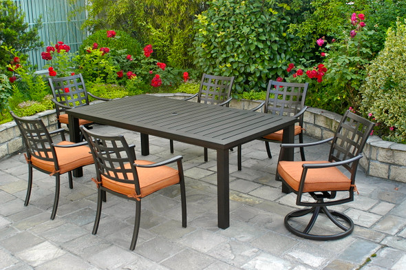 Stratford Dinning Set For 6 with Sherwood Table by Hanamint