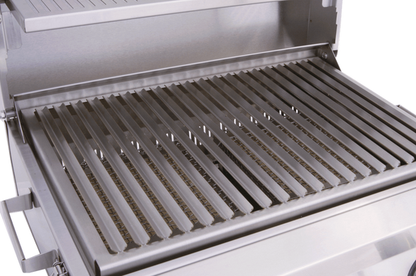 Solaire AllAbout Two Burner Table Top Grill installed on Cart  By Rasmussen
