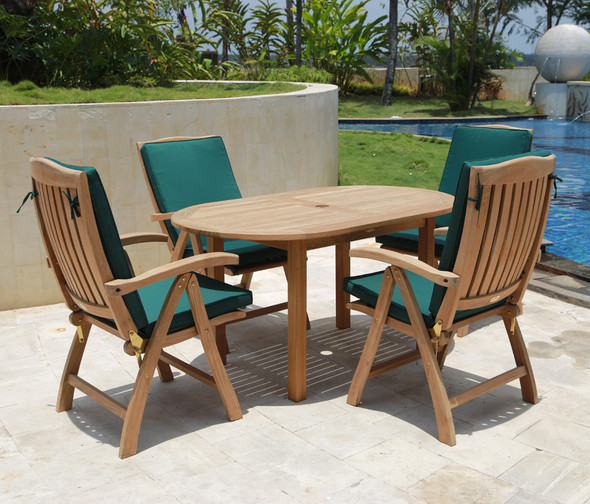 Classic Oval Table 5' by Classic Teak