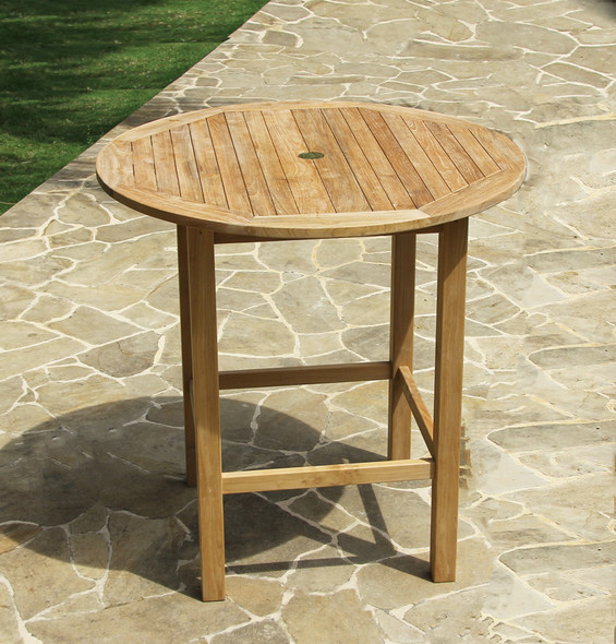 "Classic Bar Round Table 40"" by Classic Teak"