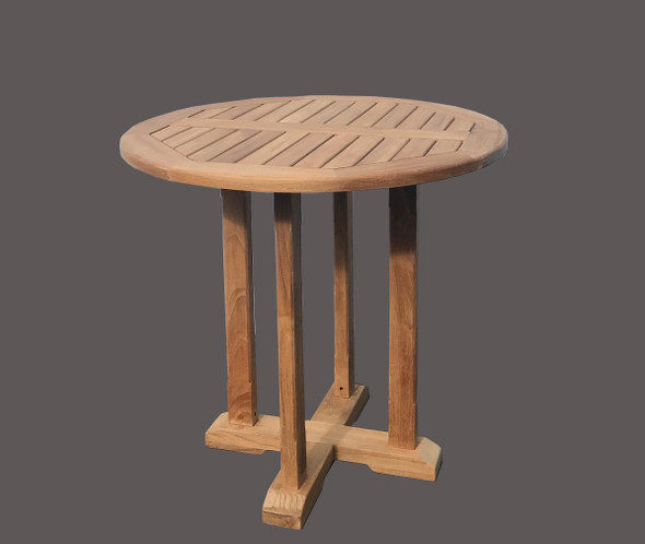 "Classic Round Bistro Table 31"" by Classic Teak"
