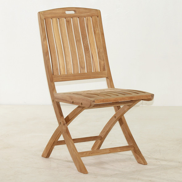 Classic Teak Stinson Folding Side Chair