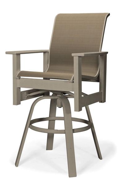 Leeward MGP Sling Bar Height Swivel Arm Chair by Telescope