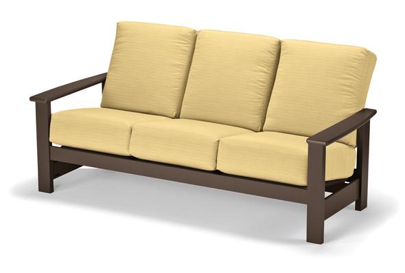 Leeward MGP Cushion Three-Seat Sofa by Telescope