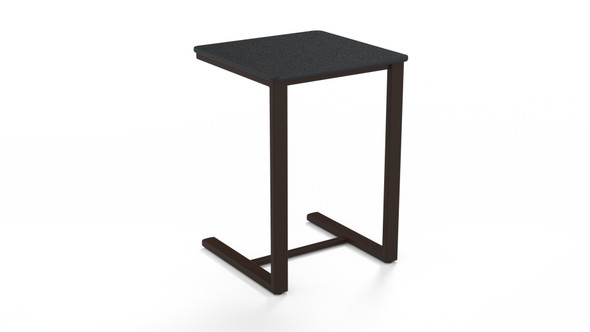 "Square 17.5"" MGP Top Side Table By Telescope"