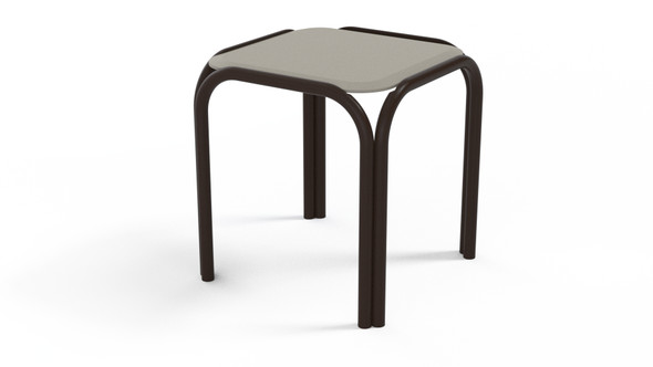 "Square 17"" MGP Top End Table By Telescope"