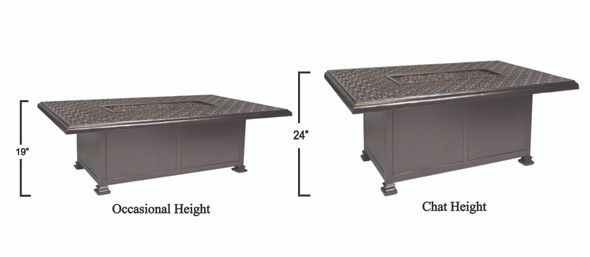 Rectangular 36''X58'' Richmond Fire Pit by OW Lee