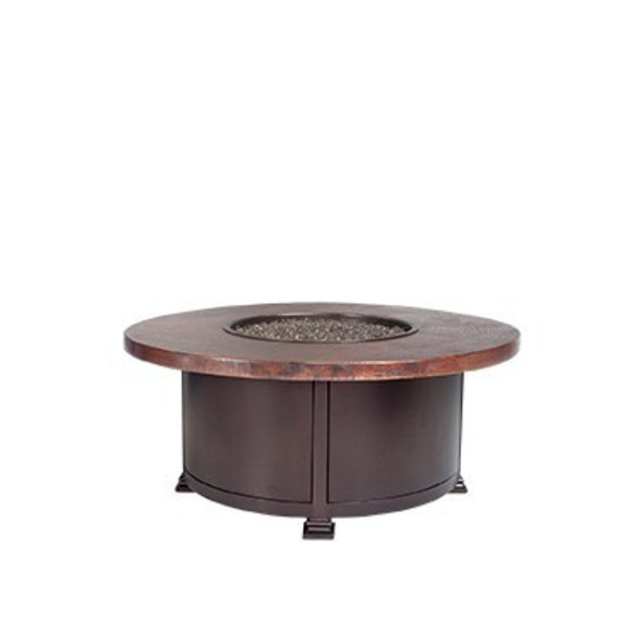"Round 36"" Hammered Copper Fire Pit By OW Lee"