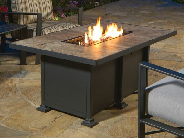 "Rectangular 30"" x 50"" Vulsini Fire Pit by OW Lee"