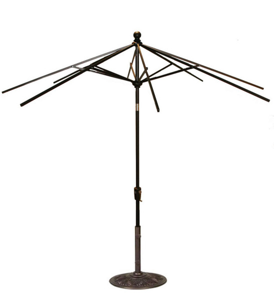 9FT Push Tilt Umbrella Frame Only By Treasure Garden