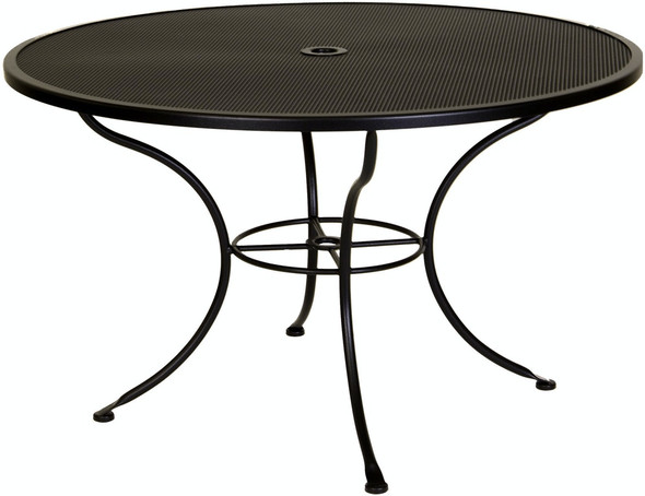 "Micro Mesh Round 48"" Dining Table with 1.625"" Umbrella Hole by OW Lee"
