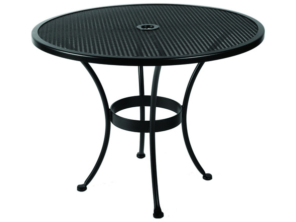 "Micro Mesh Round 36"" Dining Table with 2"" Umbrella Hole by OW Lee"