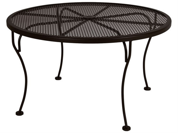 "Micro Mesh Round 36"" Coffee Table with 1.625"" Umbrella Hole by OW Lee"