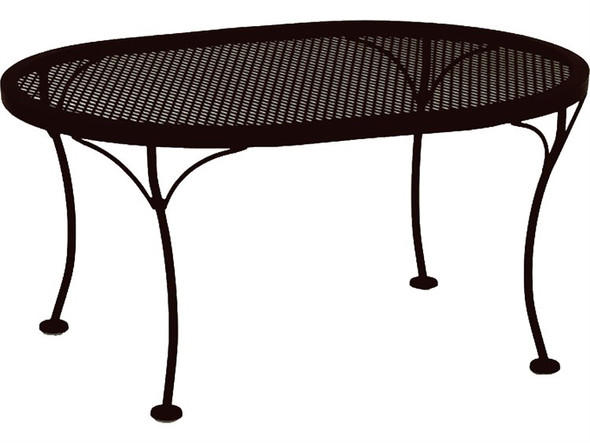 Micro Mesh Oval 34x24 Coffee Table by OW Lee
