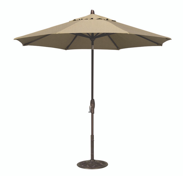 9' Push Button Tilt Octagon A Grade Umbrella by Treasure Garden