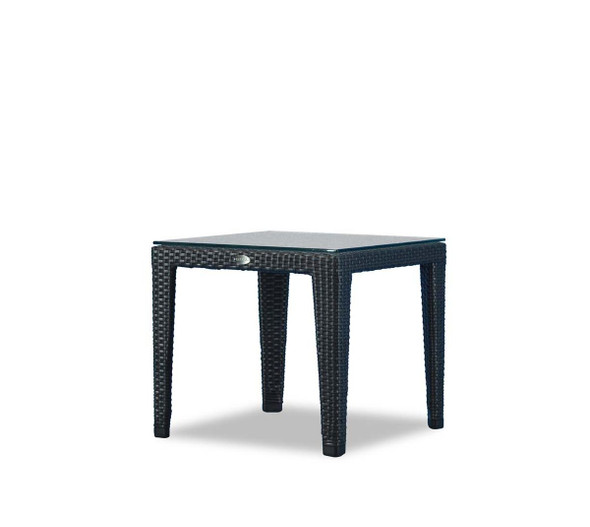 New Miami Lakes End Table with clear glass by Ratana