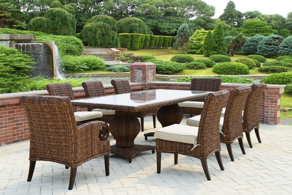 Antigua Woven Table set 9PC by Patio Renaissance