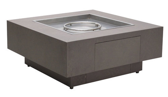 "Faux Concrete Aluminum Fire Pit 42"" SQ  by Patio Renaissance"
