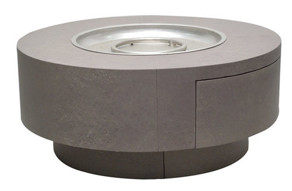 "Faux Concrete Aluminum Fire Pit 34"" Round  by Patio Renaissance"
