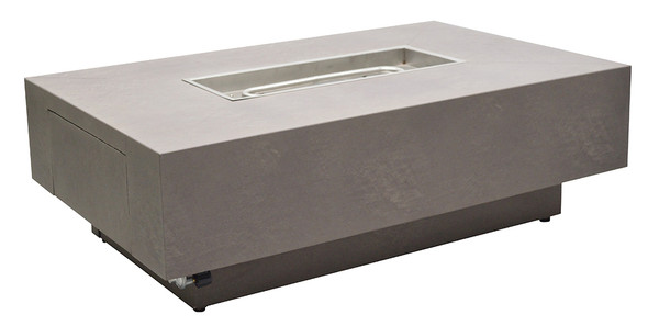 Faux Concrete Aluminum Fire Pit 36x58 by Patio Renaissance