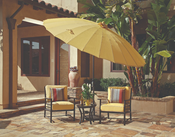 10' Shanghai Collar Tilt Round Umbrella