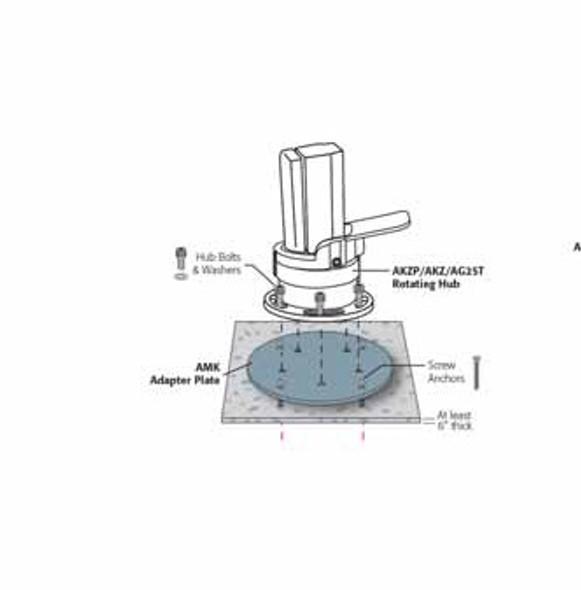 Cantilever Base Concrete Mount kit