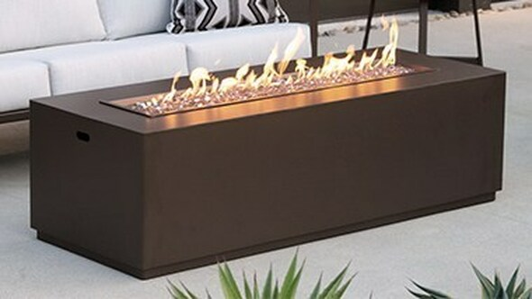 "25""x65"" Occasional Height Forma Fire Pit"