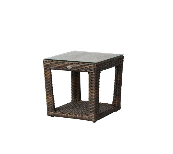 Portfino Side Table W/Clear Glass
