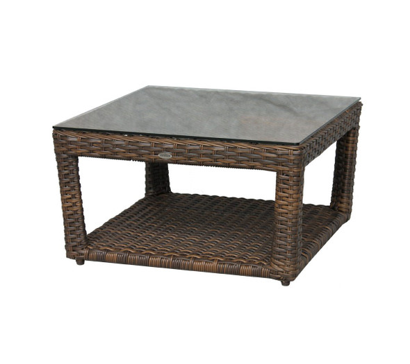 Portfino Coffee Table W/Clear Glass