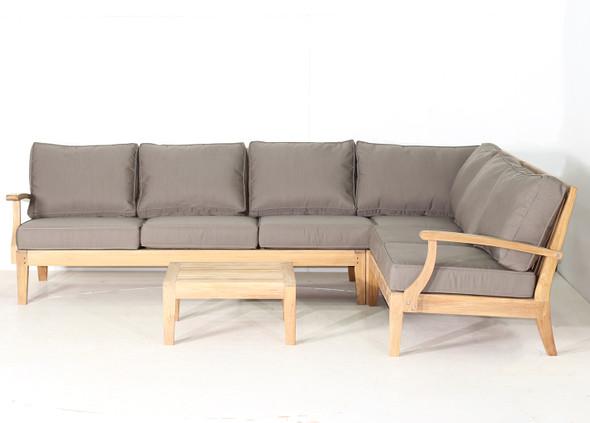 Classic Teak Sectional Corner Sofa Set