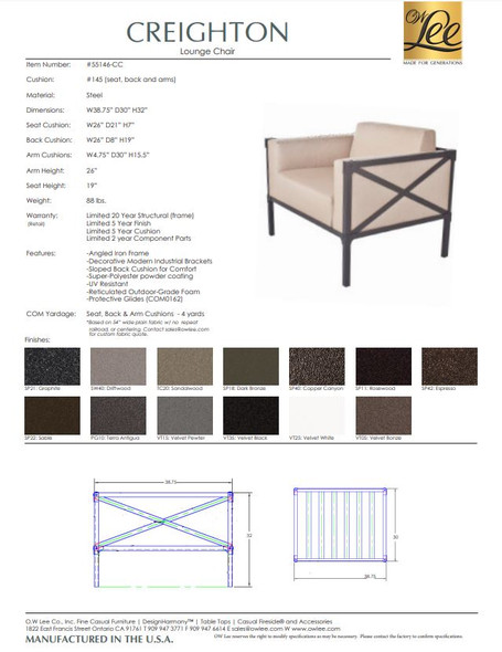 Creighton Lounge Chair by OW Lee
