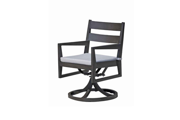 Lucia Dining Swivel Rocking Arm Chair by Ratana