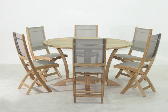 NEWPORT TEAK TABLE SET 7PC