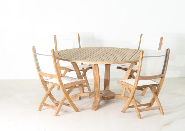 NEWPORT TEAK TABLE SET 5PC