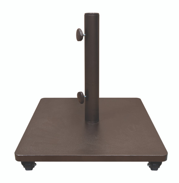 120LB  SQUARE STEEL BASE W/ CASTERS