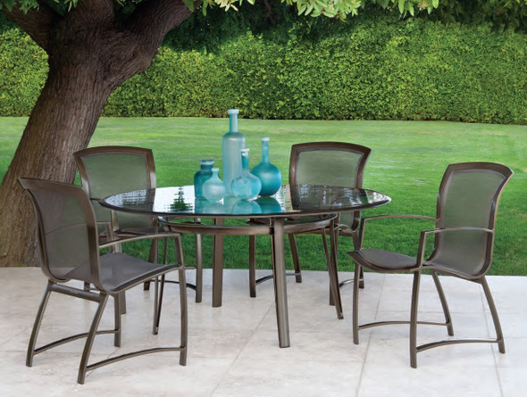 Wave Dining Table Set 5PC by Brown Jordan