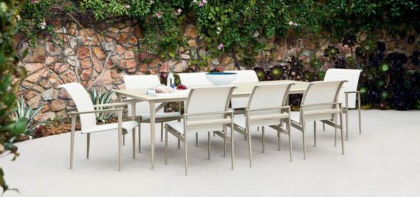 Flight Aluminum dining Table Set  by Brown Jordan