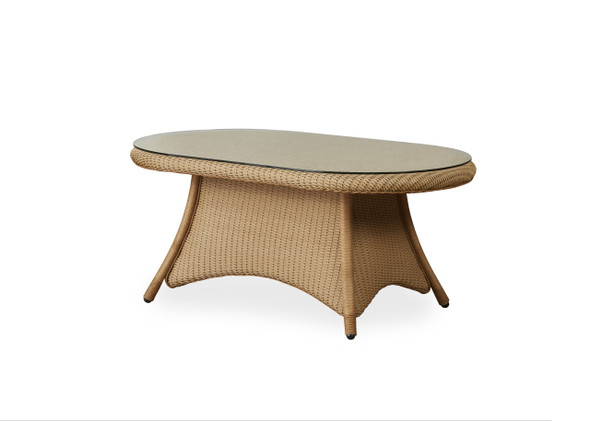 "42"" Oval Cocktail Table Table Universal Loom by Lloyd Flanders"