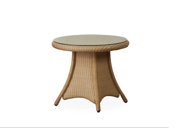"24"" Round End Table Universal Loom by Lloyd Flanders"